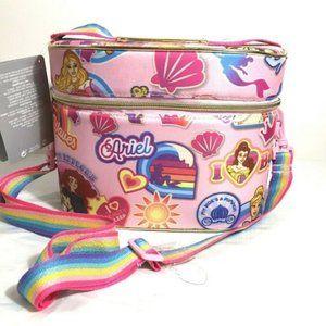 The Disney Store Disney Princess Case Bag Pink Zip Around